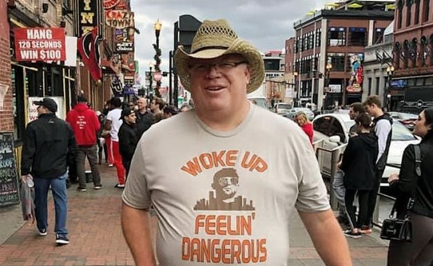 "Steve wears Baker Mayfield ""I woke up feeling dangerous"" shirt"