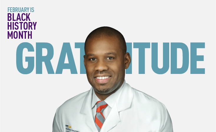 Young Black oncologist treats and conducts research for pancreatic cancer patients