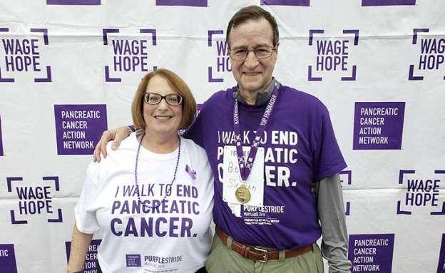 Pancreatic cancer survivor at PanCAN PurpleStride 5K