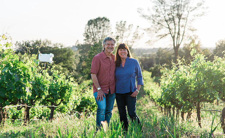 Cedarville Vineyard and Winery owners Jonathan Lachs and Susan Marks