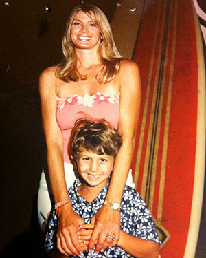 Ross with his mom Robin