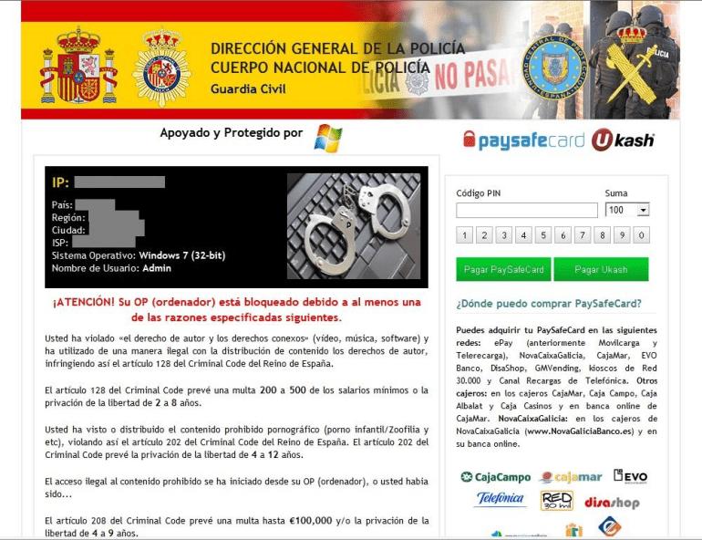 Operación Ransom: detenidos autores del virus de la policia - Panda  Security Mediacenter