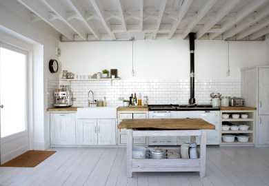 Rustic White Country Kitchen