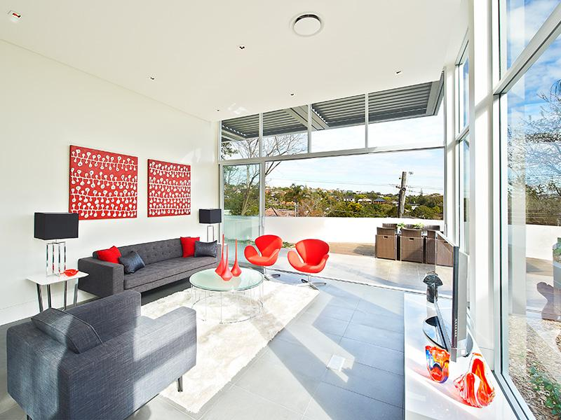 Red and Gray Living Rooms