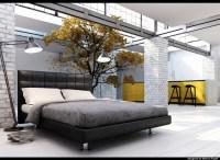 black-grey-yellow-bedroom - Panda's House