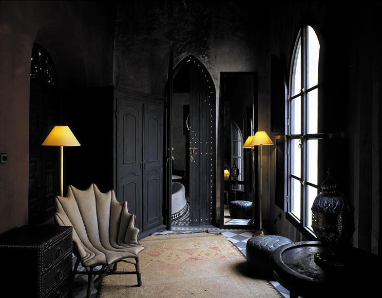 Black On Black Moroccan Design Panda S House