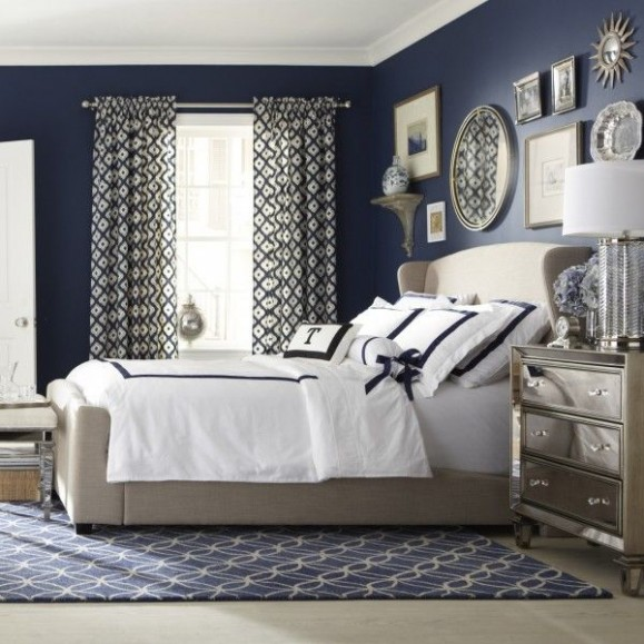 indigo navy blue bedroom 25 Amazing Indigo Blue Bedroom Ideas - Panda's House