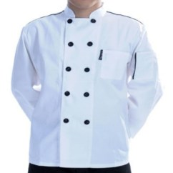 Kitchen Wear Antique Table Chef White Black Work Clothes