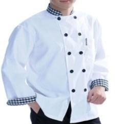 Kitchen Wear Viking Outdoor White With Grid Design Workwear Panda