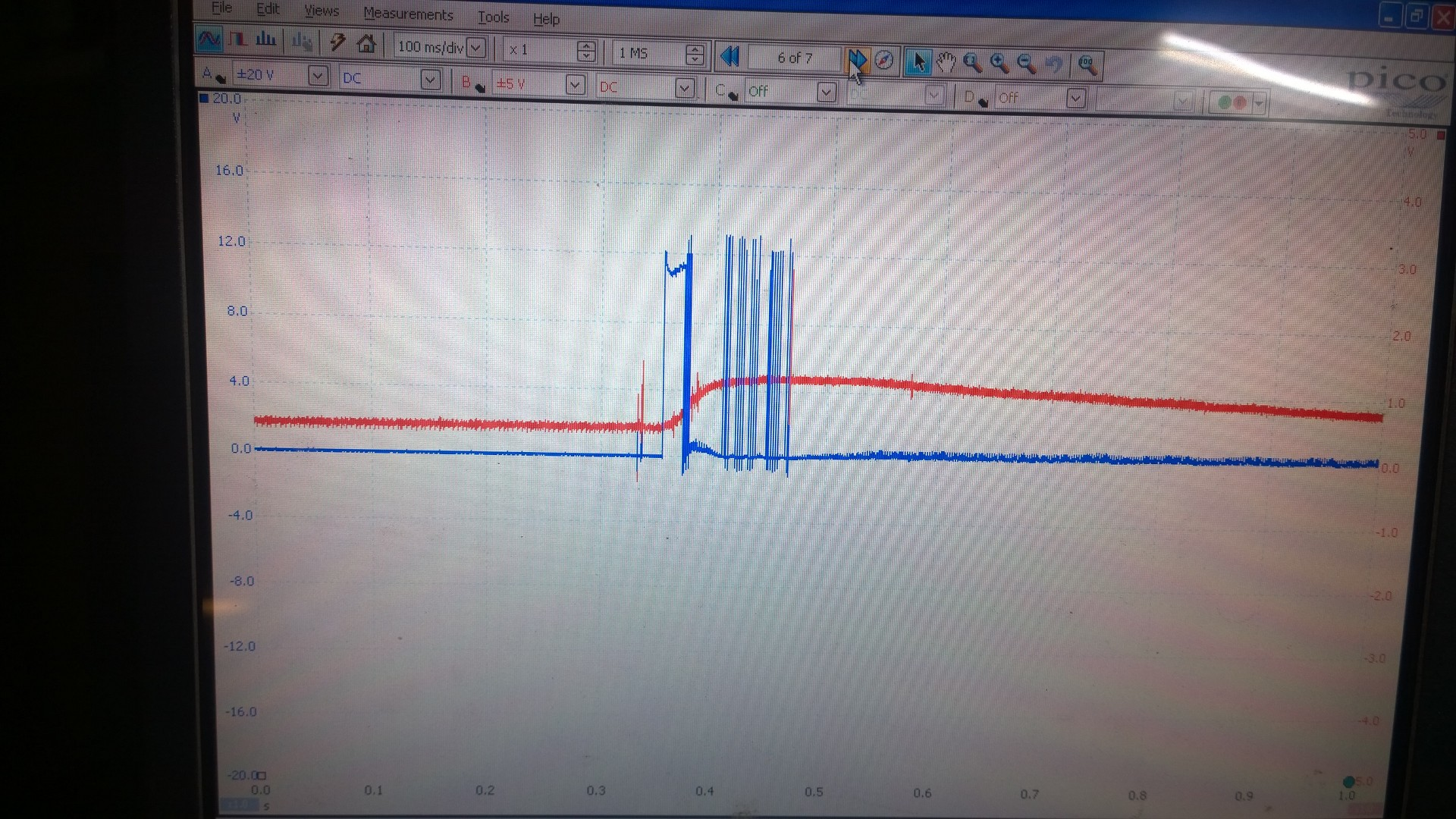 hight resolution of egr control waveform from engine ecu with tps output from position sensor