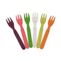 Taartvorkjes Zuperzozial – gebaksvorkjes – houten vorkjes – kleine vorkjes - kindervorkjes