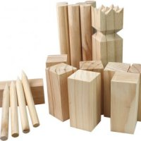 kubb spel – kubbs - viking schaken - houten spel kubb