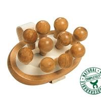 Houten massage bal - triggerpoint balletje - voetmassage roller