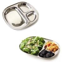 Rvs bord met vakjes – bord met 3 vakken – camping tray – bord met vakverdeling