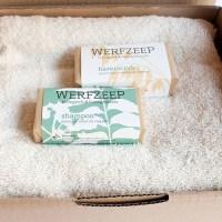 handdoek met natuurlijke zeep - handgemaakte zeep – biologisch katoenen handdoek