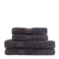 grijze handdoekenset - set handdoeken antractiet - biologische handdoeken set