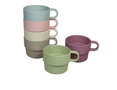 bamboe bekers met oor - bamboe koffiebekers - bamboe servies – koffiebeker – koffie bekers
