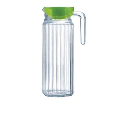 glazen waterkan met deksel - glazen schenkkan - waterkan glas – glazen schenkkan - limonadekan