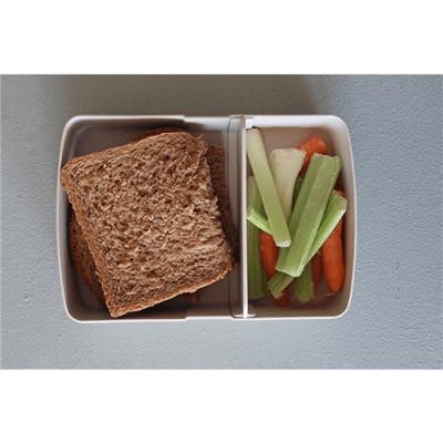 zuperzozial broodtrommel met vakken - broodtrommel met elastiek – brooddoos met elastiek