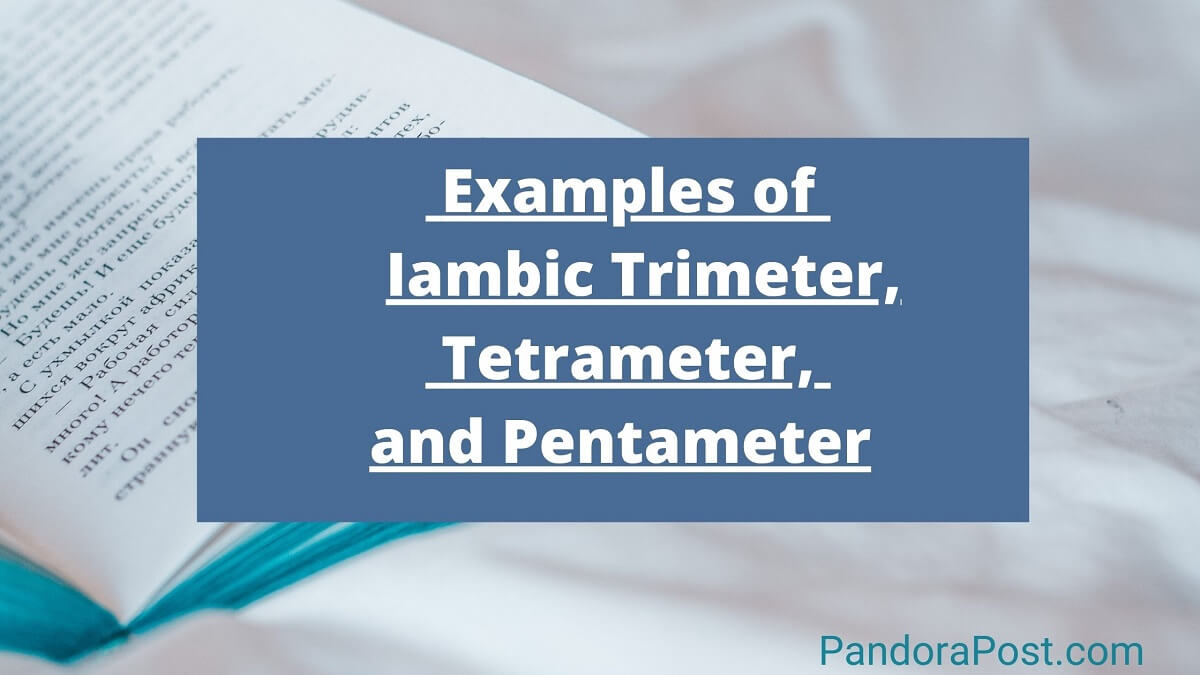 Examples of Iambic Trimeter, Tetrameter, and (Pentameter) in Poetry