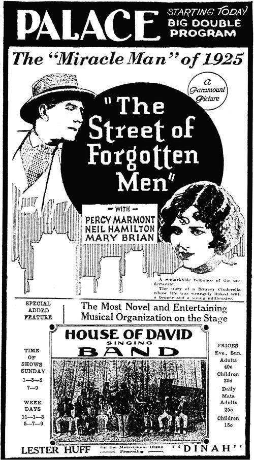 Street of Forgotten Men advertisement