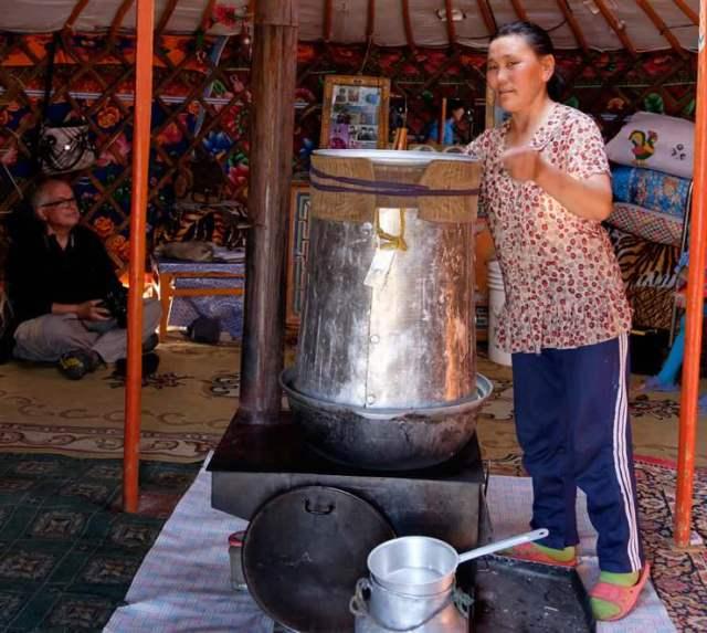 Preparation of Airag, fermented Mare's Milk 2 © Emily Marie Wilson | Shutterstock.com