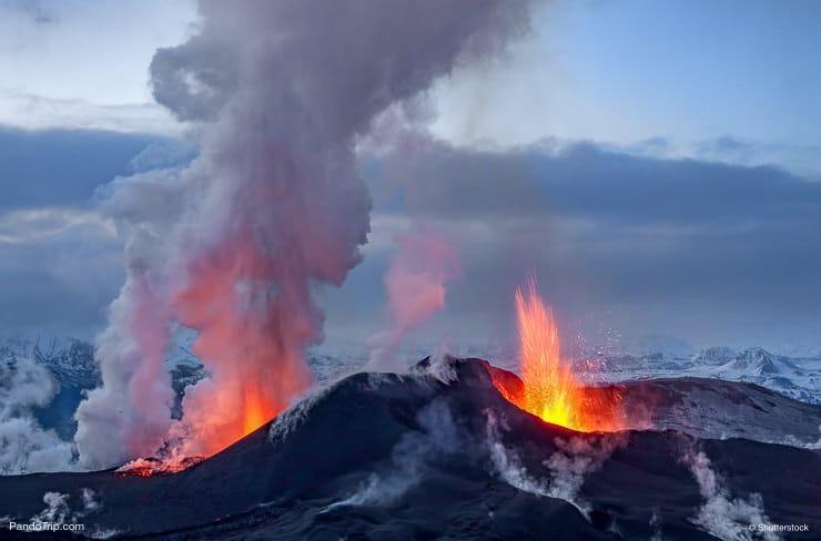 Eyjafjallajokull volcano eruption in 2010. Iceland
