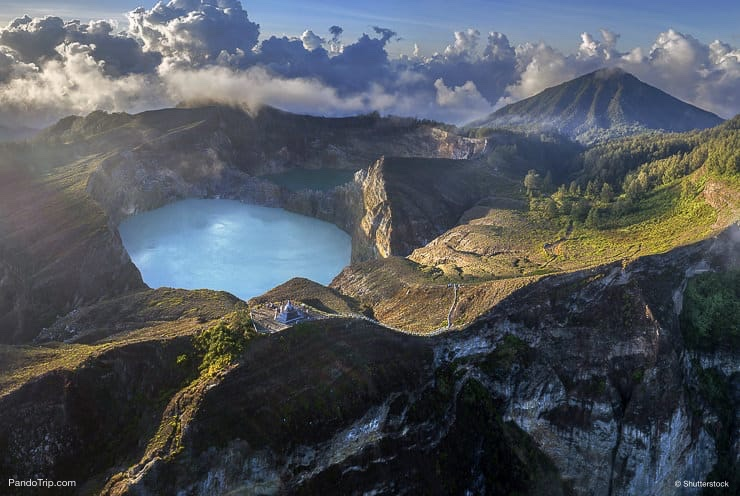Kelimutu volcano and its crater lakes, Flores Island, Indonesia