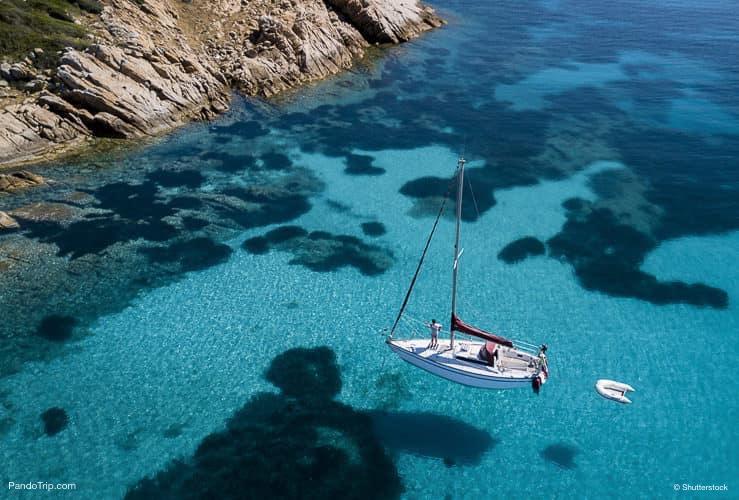 جزيرة مورتوريو ، أرخبيل مادالينا ، سردينيا ، إيطاليا