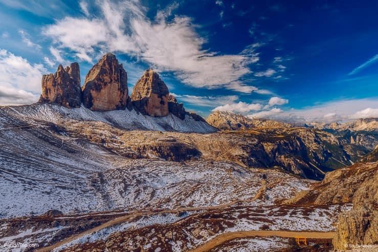 Tre Cime di Laveredo ، الدولوميت ، إيطاليا