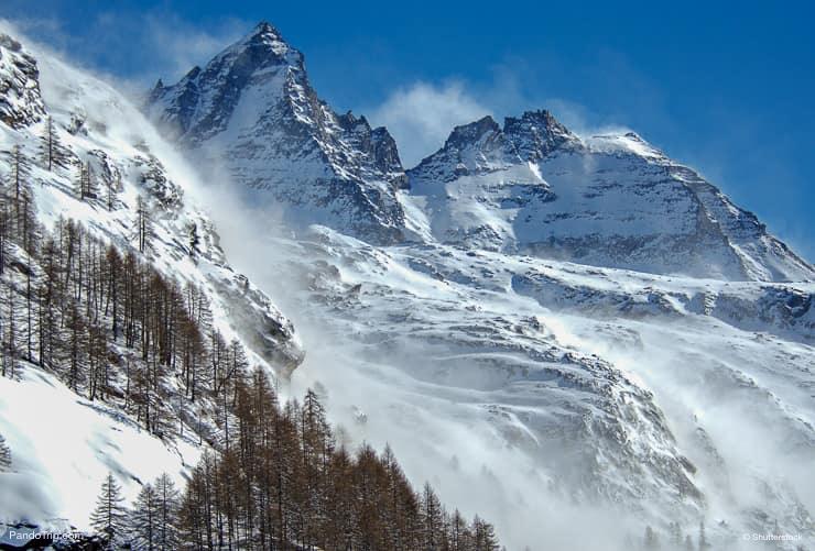 أقات أثناء الشتاء، إلى، gran، Paradiso، الحديقة الوطني، valle، d'Aosta، Italy