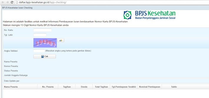 Aplikasi WEB BPJS Checking