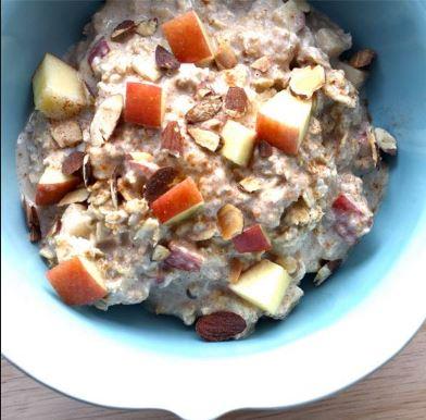Resepi Chia Seed Oat bersama Mangga dan Apple