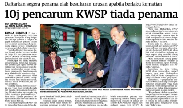 KWSP penama