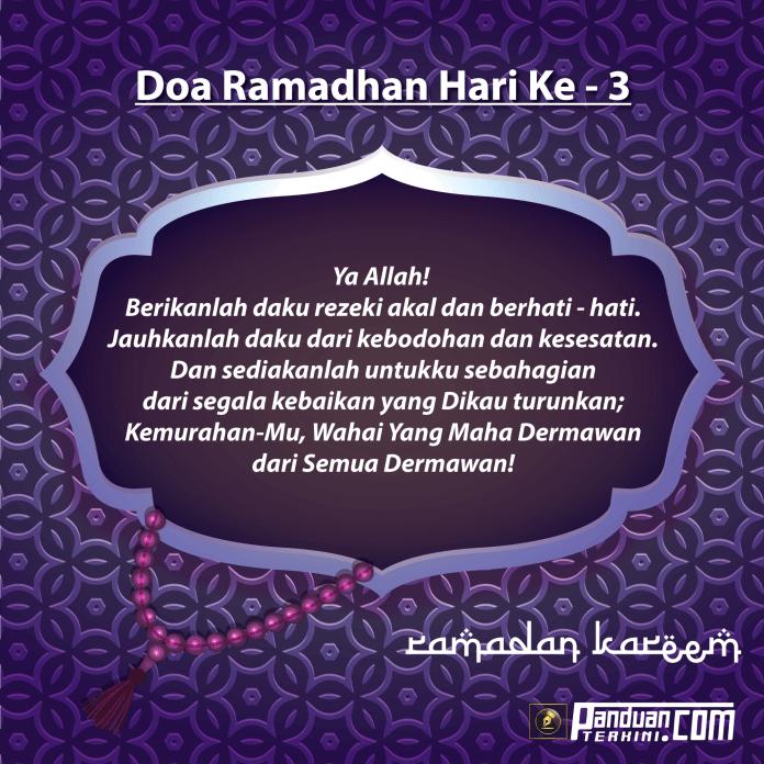 Doa Ramadhan Hari Ke-3