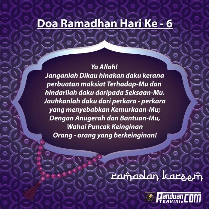 Doa Ramadhan Hari Ke-6