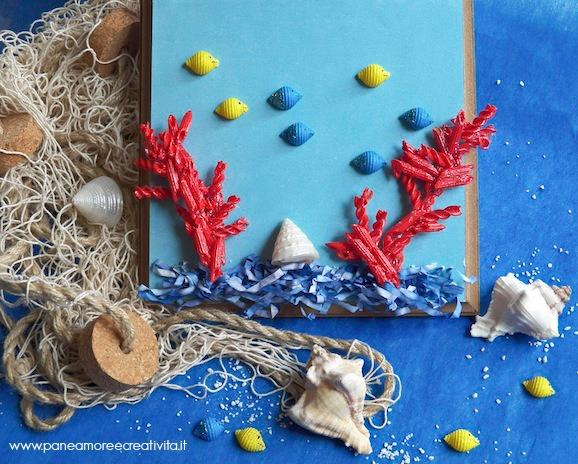 Lavoretti per lestate pesci e coralli di pasta Barilla  Pane Amore e Creativit