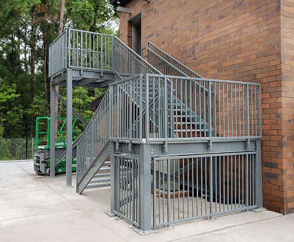 Metal Stairs Ibc And Osha Metal Stair Systems Panel Built | Stair Rails For Sale | Interior | Steel | Iron Rail | Minimalist | Modern