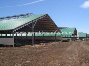 Agropanel o panel sandwich reforzado para granjas