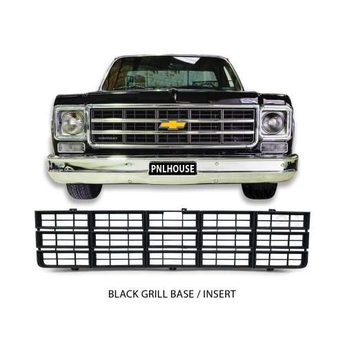 small resolution of grill insert black fits chevrolet c10 ute 1973 1980 chevy pickup new aftermarket