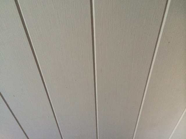 Green mdf tongue and groove panelling