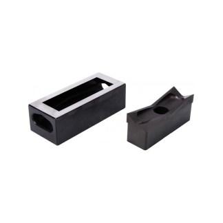 Alfra 1/32 DIN 22 x 45mm Stainless Steel Rectangular Punch/Die Set
