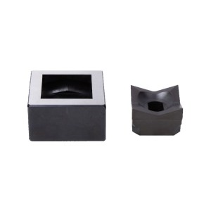Alfra 1/16 DIN 45 X 45mm Stainless Steel Square Punch/Die Set