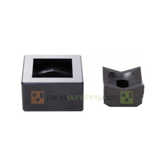 Alfra 68 mm X 68 mm Square Knockout Punch & Die Set