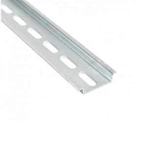 A 20 Piece Box of 1 Meter 35X7.5 mm Slotted DIN Rail 111.103 TS 35/F6