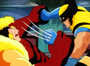 x-men-animated-series-season-1-4-deadly-reunions-wolverine-sabretooth