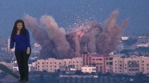 Montaje de Iris en los bombardeos de Palestina