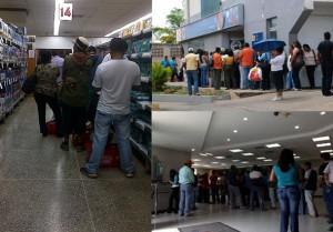 Colas en Central Madeirense (izq) y bancos Banesco y Fondo Común (Der)