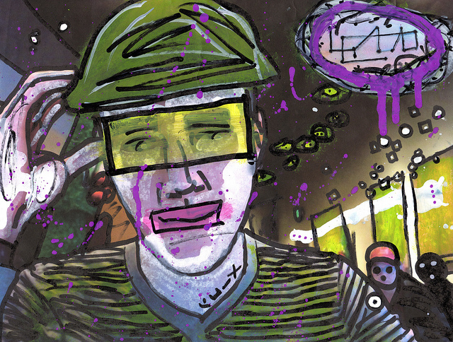 Mime Scholar Sings Silent Rain On Haters, por Marc-Anthony Macon
