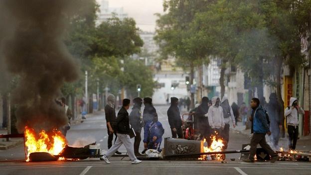protesta-chile-barricada